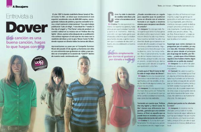 Dover - entrevista uala